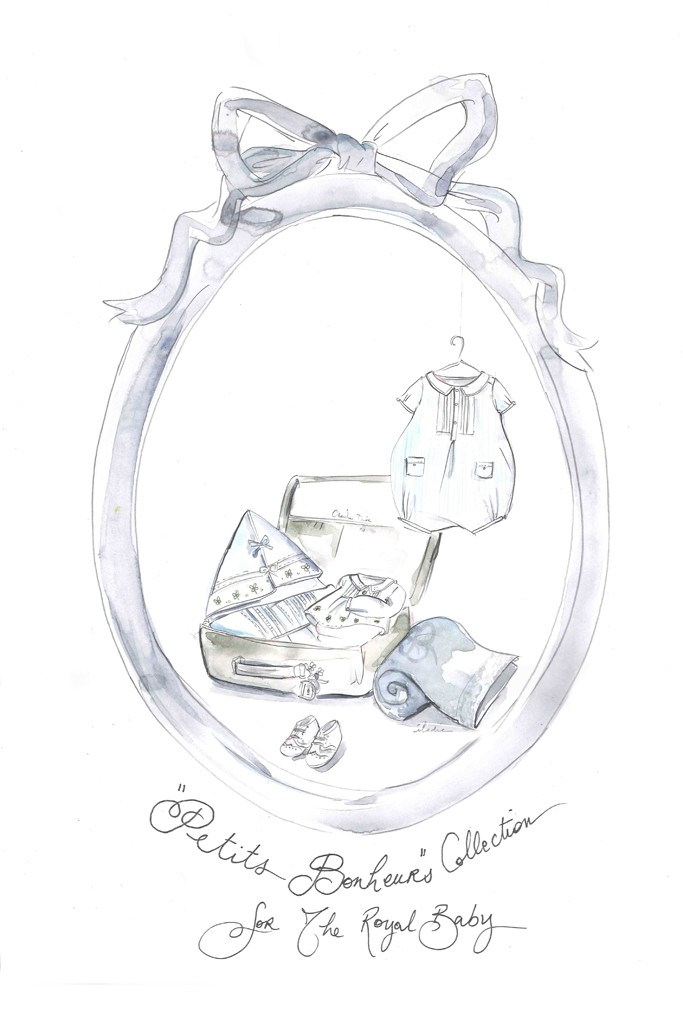 Royal Baby Booty Designer Sketch Gifts Fit For A Future King on four box