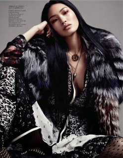 Vogue China October 2013-Rough Elegance