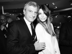 Dior's director general Sidney Toledano with actress Jessica Biel.