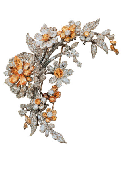 THE ART OF BULGARI: DOLCE VITA AND BEYOND Tremblant brooch, 1962  Platinum with yellow and white diamonds