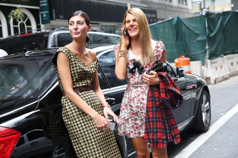 Contributing fashion editor of W Magazine, Giovanna Battaglia and editor-at-large and creative consultant of Vogue Japan, Anna Dello Russo
