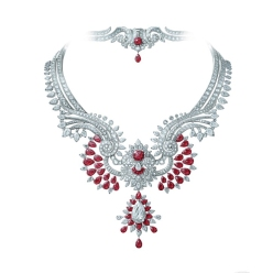 Oriental Princess necklace and detachable clip, Pierres de Caractère Variations collection