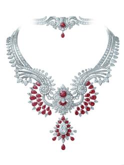 Oriental Princess necklace and detachable clip, Pierres de Caractère Variations collection