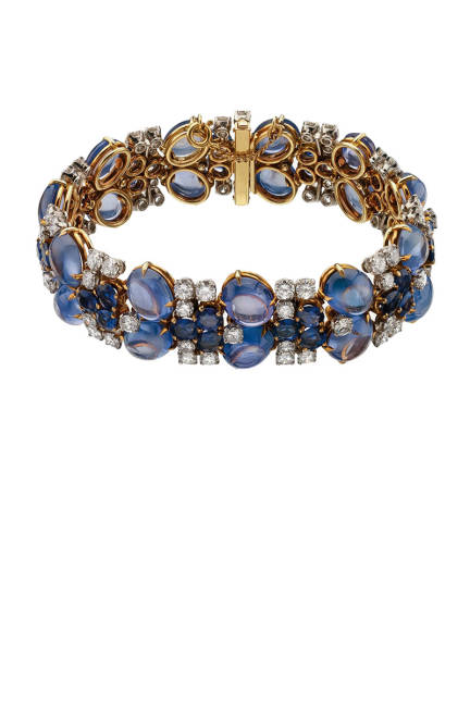 THE ART OF BULGARI: DOLCE VITA AND BEYOND Bracelet, 1960  Gold with sapphires and diamonds