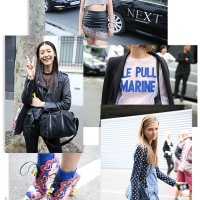 Street Looks at Paris Fashion Week Spring/Summer 2014 (day 1&2)