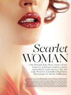 Vogue Uk October 2013-Scarlet Woman