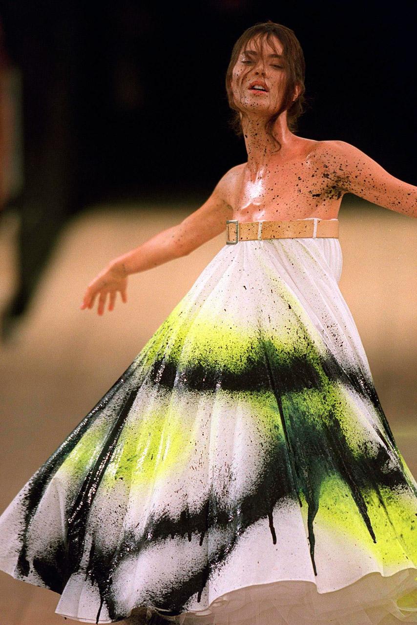 Mcqueen Spray Paint Dress