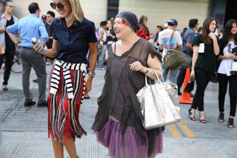 Fashion director Lane Crawford and journalist Lynn Yaeger