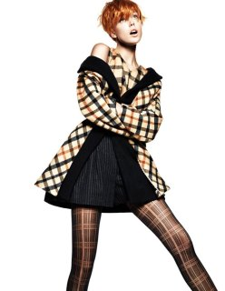 Vogue China October 2013-Pretty in Plaid