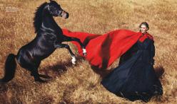 Harper's Bazaar US October 2014-Wild At Heart