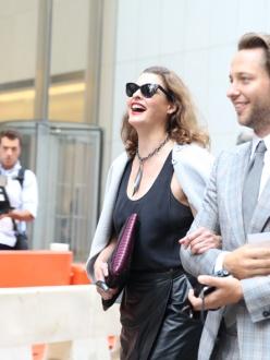 Supermodel Linda Evangelista with journalist Derek Blasberg
