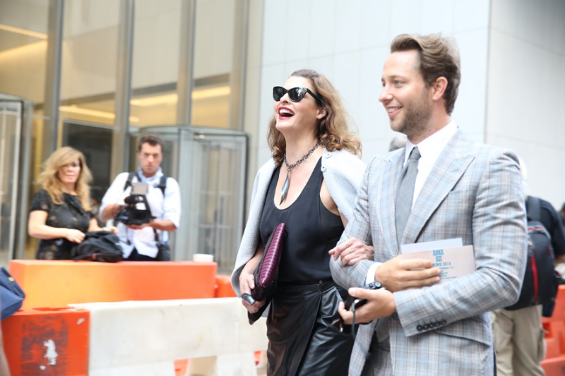 Supermodel Linda Evangelista with journalist Derek Blasberg