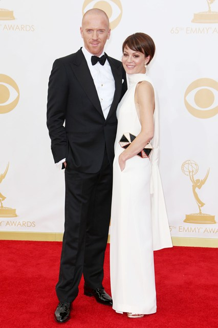 Damian Lewis wore top-to-toe Tom Ford, while Helen McCrory wore a white column dress.