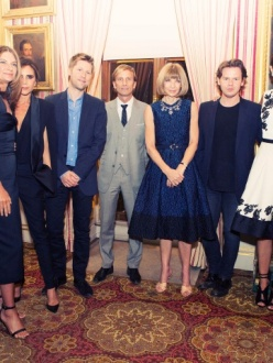 Green Carpet Challenge participants with Natalie Massenet, Mark Dybul, Anna Wintour and Livia Firth