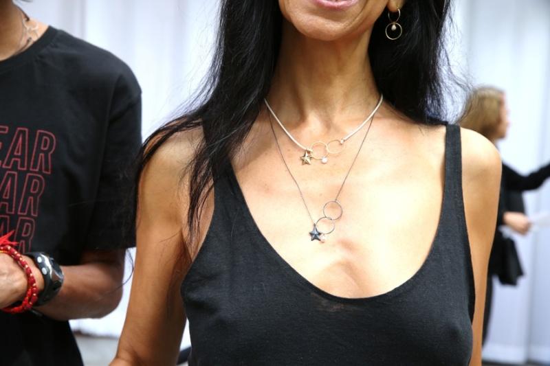 Inez Van Lamsweerde wearing jewelry from her own collection Inez & Vinoodh x Ten Thousand Things