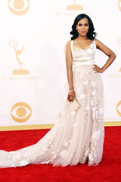 Kerry Washington wore a Marchesa spring:summer 2014 gown
