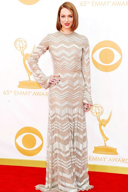 Kristen Connolly in a Nicholas Oakwell dress and jewellery by Stephen Webster