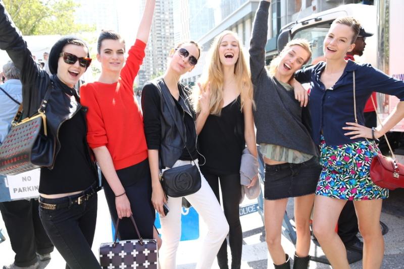 New York Fashion Week models