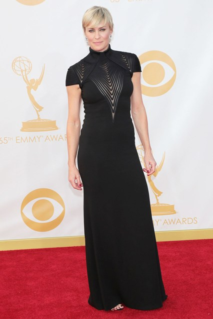 Robin Wright wore a Ralph Lauren Collection autumn:winter 2013 gown.