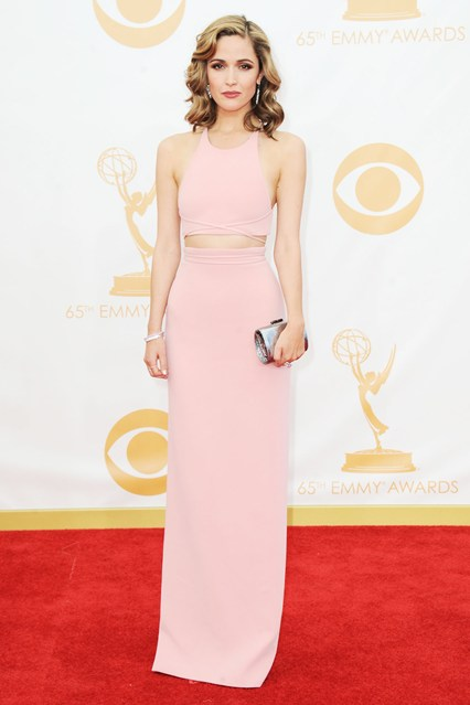 Rose Byrne wore a custom-designed Calvin Klein Collection top and skirt, with Tiffany & Co. jewellery and a Jimmy Choo clutch