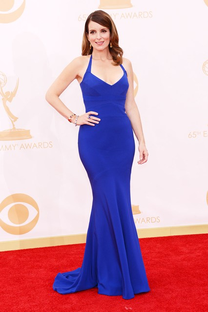Tina Fey wore a custom-made Narciso Rodriguez dress with Fred Leighton jewellery.