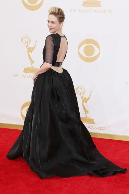 Vera Farmiga wore a custom-designed Theyskens' Theory dress with a Lanvin belt and jewellery by Fred Leighton.