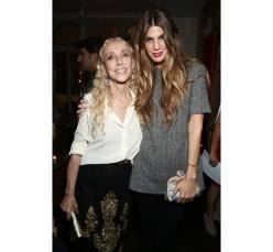 Franca Sozzani, chief editor-in-chief Vogue Italy and socialite Bianca Brandolini d'Adda