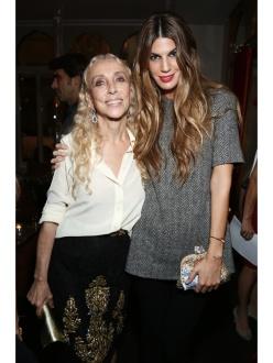 Franca Sozzani, chief editor-in-chief Vogue Italy and socialite Bianca Brandolini d'Adda