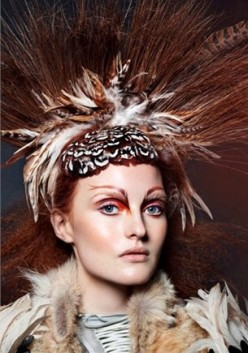 Hunger Games Makeup Inspiration-Vogue Italia October 2013