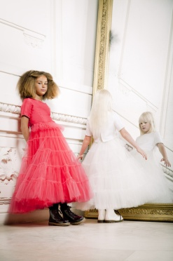 A dress inspired by Jean Paul Gaultier haute couture Spring/Summer 2013 has been revisited for little girls, in a new junior haute couture line.