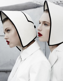 Lindsey Wixson and Ashleigh Good for W Magazine November 2013