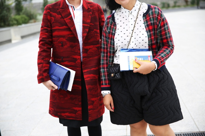 Kenzo coat and shorts with a bag by Chanel