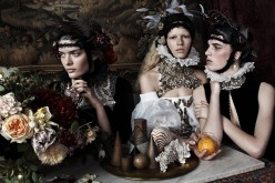Anna Ewers, Sam Rollinson and Ashleigh Good for Vogue Uk December 2013