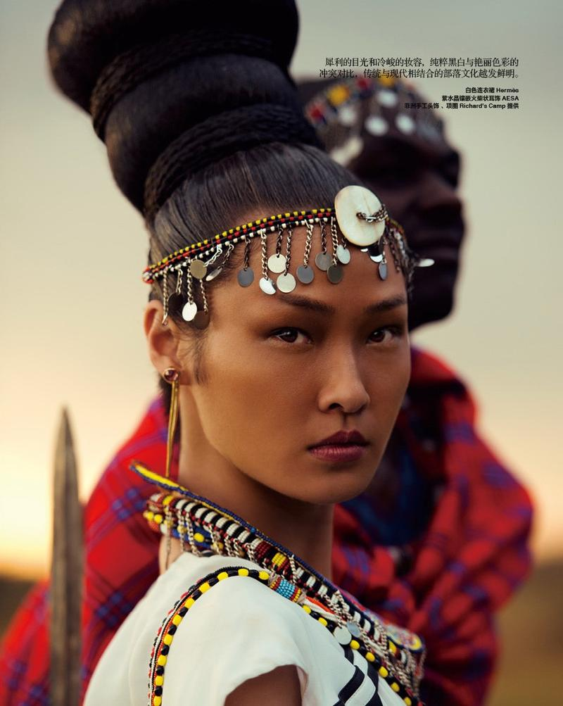Wang Xiao For Harper S Bazaar China November 2013 A