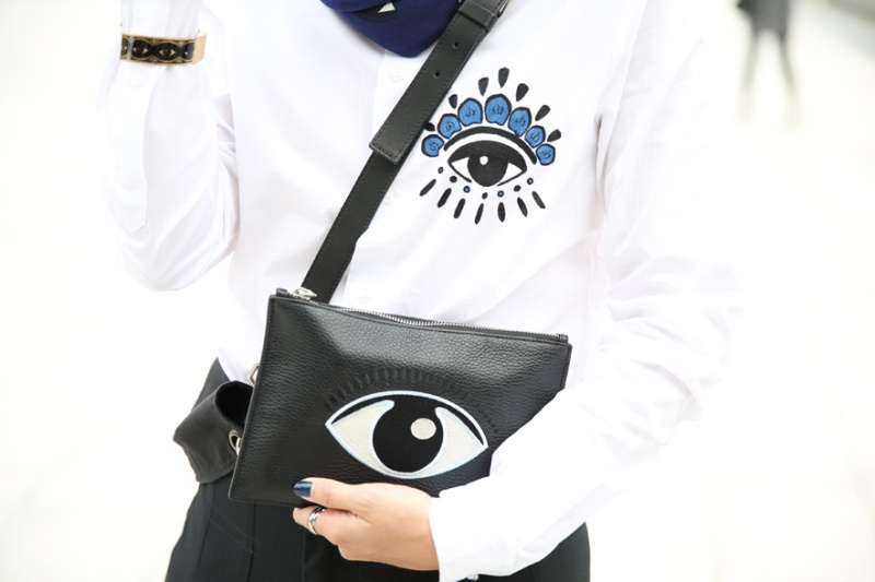 Kenzo shirt and clutch