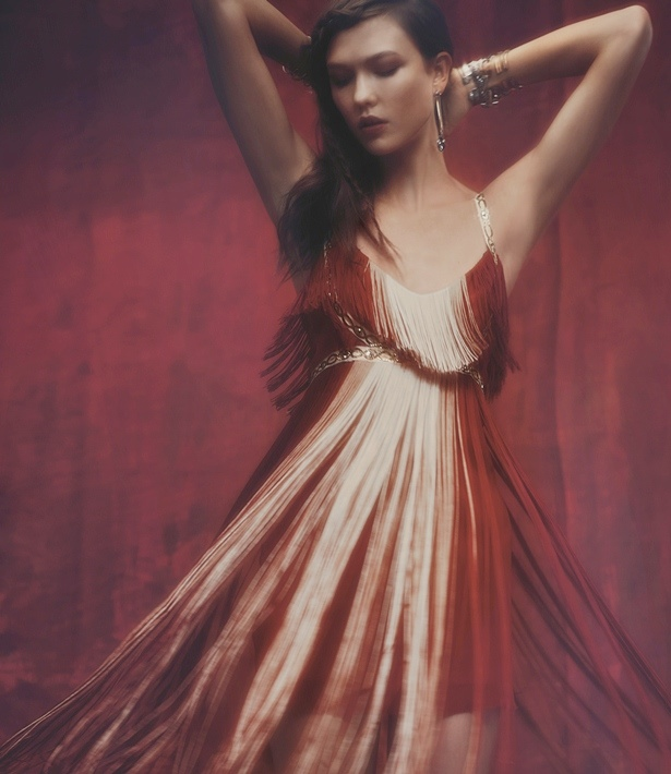 Karlie Kloss, Martha Hunt, Ajak Deng and Anna Selezneva for Free People-Mystical Holiday