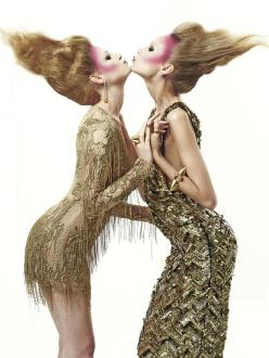 Kristy Kaurova and Cate Underwood for Various Editorials October 2013-Mutual Support