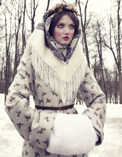 Lindsey Wixson for Vogue Japan December 2013-The Anastasia Of Winter