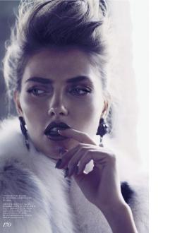 Alina Baikova for Fashion Canada October 2013-Passing Time