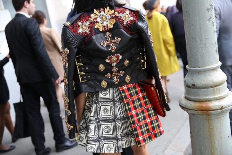 Fausto Puglisi biker jacket and skirt