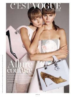 Maryna Linchuk and Cato Van Ee for Vogue Paris November 2013