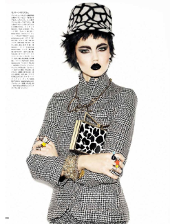 Lindesy Wixson for Vogue Japan November 2013-A Classic Rebel