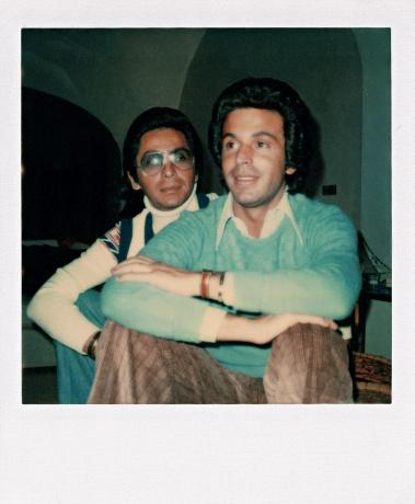 Valentino Garavani and Giancarlo Giammetti, Capri, 1969Valentino Garavani and Giancarlo Giammetti, Capri, 1969