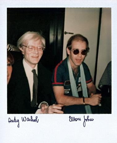 Andy Warhol and Elton John, Paris, 1970s