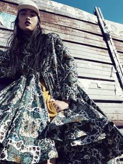 Jing Wen for Luisaviaroma October 2013-Let's Go Outsize