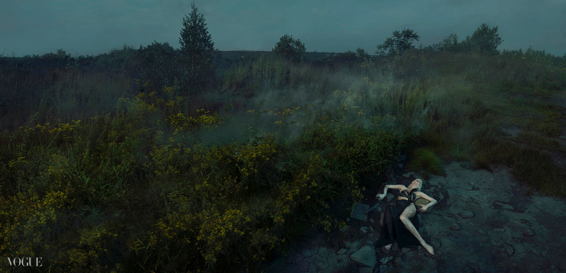 Alyona Subbotina for Vogue Italia's Talent Shooting-An Accident Fall