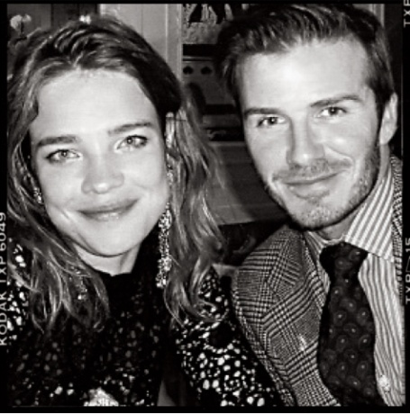 Natalia Vodianova and David Beckham
