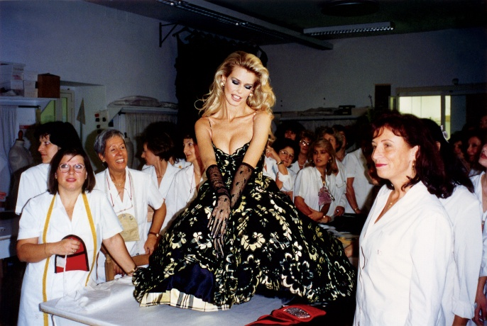 Claudia Schiffer in Rome, 1994