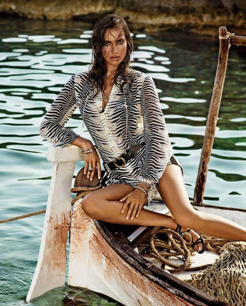 Irina Shayk in Roberto Cavalli for Brazilian Label C&A Capsule Collection