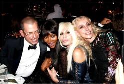 Jonathan Newhouse, Naomi Campbell, Donatella Versace and Franca Sozzani